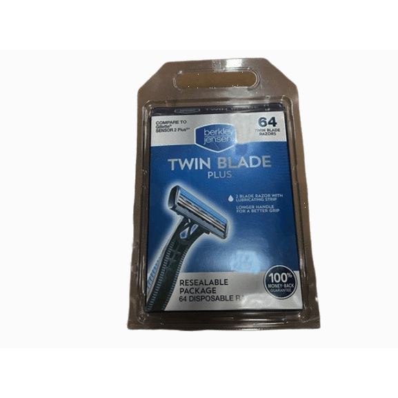 Berkley Jensen Men's Twin-Blade Disposable Razor, 64 ct. - ShelHealth.Com