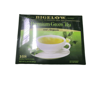 Bigelow Premium 100-Percent Organic Green Tea, 150-Count Box - ShelHealth.Com