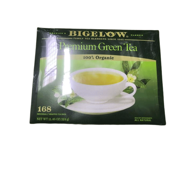 Bigelow Bigelow Premium 100-Percent Organic Green Tea, 168-Count Box