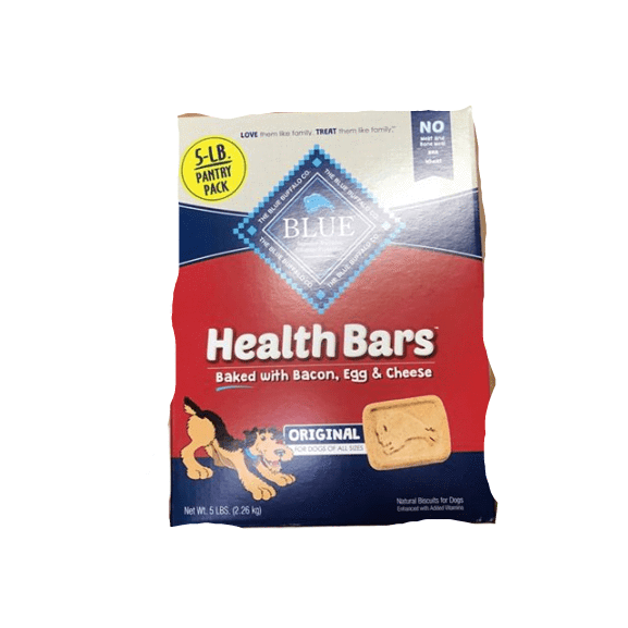 Blue Buffalo Blue Buffalo Health Bars Natural Crunchy Dog Treats Biscuits, Bacon, Egg & Cheese, 5 lbs.