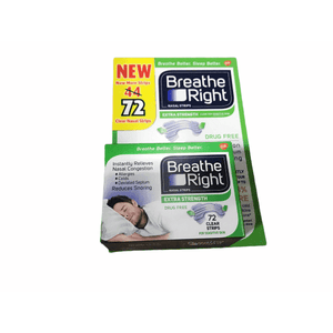 Breathe Right Breathe Right Extra Strength Clear Nasal Strips for Sensitive Skin - 72 count