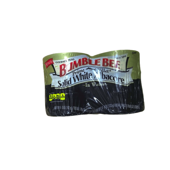 Bumble Bee Bumble Bee Prime Fillet Solid White Albacore Tuna in Water, 5oz cans (Pack of 6)