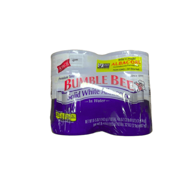 Bumble Bee Tuna Solid White Albacore in Water, Canned, 5 oz (Pack of 8) - ShelHealth.Com