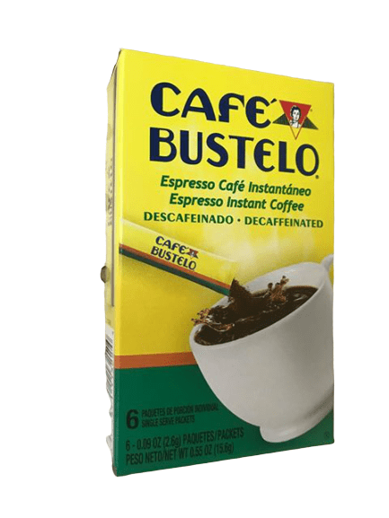 Cafe Bustelo Café Bustelo Espresso Instant Coffee Decaffeinated - 6 Count Individual Packs