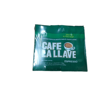 Café La Llave Café La Llave Espresso Coffee, Dark Roast (4 x 10 Ounce Bricks)