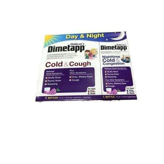 Dimetapp Children's Dimetapp Cold & Cough 8 OZ. & Children's Dimetapp Nighttime Cold & Congestion 4 OZ., Grape Flavor