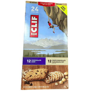 Clif CLIF Bar Energy Bars Chocolate Chip and White Chocolate Macadamia Nut, Box of 24