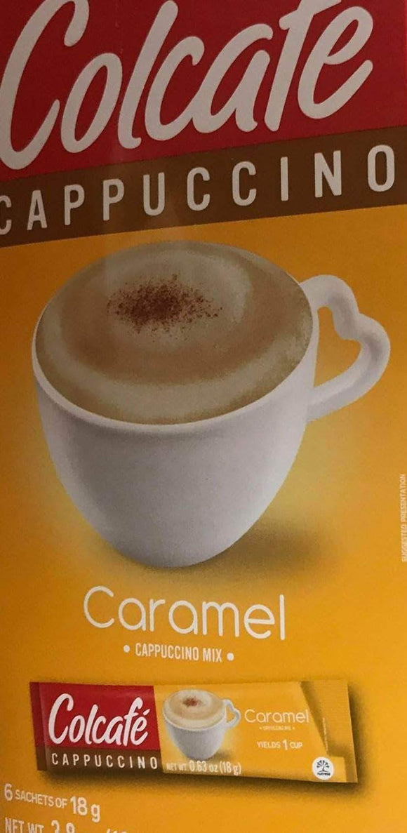 Colcafe Colcafe Caramel Cappuccino Colombian Coffee Instant Mix, 6-Count Envelopes