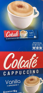 Colcafe French Vanilla Cappuccino Colombian Coffee Instant Mix, 6-Count Envelopes - ShelHealth.Com