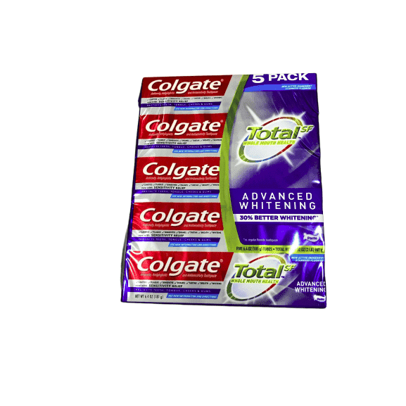 Colgate Total SF Advanced Whitening Toothpaste 6.4 oz, 5-pack - ShelHealth.Com