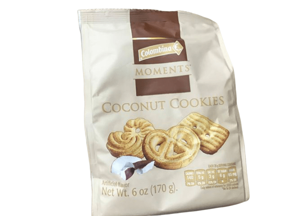 Colombina Colombina Moments Coconut Cookies, 6 oz