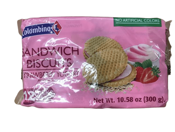 Colombina Colombina Sandwich Biscuits Strawberry Yogurt, 10.6 Ounce