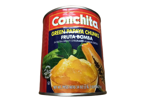 Conchita Conchita Fruta Bomba - Green Papaya Chunks in Extra Heavy Syrup, 34 oz