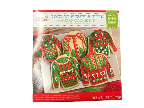 Crafty Cooking Kits Crafty Cooking Kits Ugly Sweater, Sugar Cookie Kit, 11.5 oz