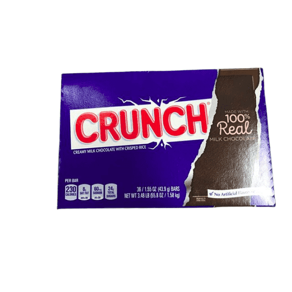 Crunch Crunch Chocolate Candy Bars, Single 1.55 Oz Bars (Pack of 36)