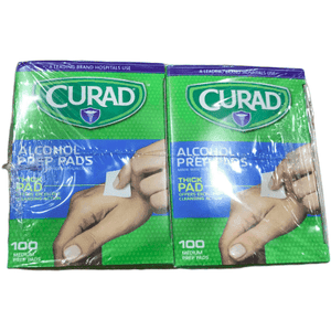 Curad Curad Alcohol Prep Pads , Thick Alcohol Swabs (Pack of 400)