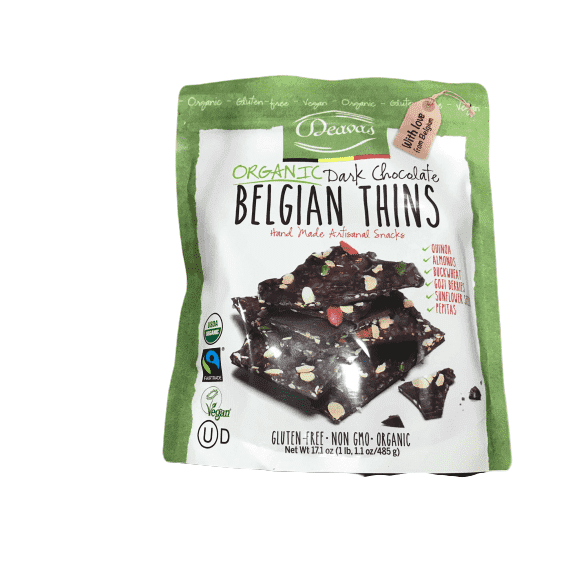Deavas Deavas Belgian Thins Organic Dark Chocolate, 17.7 oz.