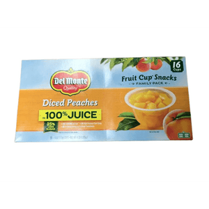 Del Monte Del Monte Diced Peaches 16pk - 4oz