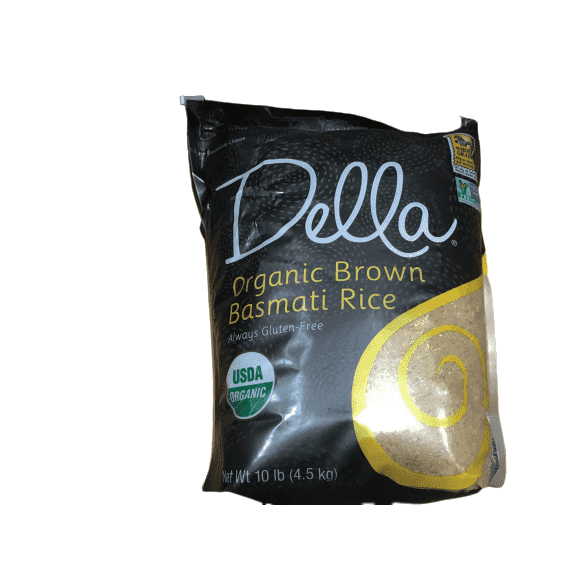 Della Della Rice Organic Basmati Brown Rice, 10lb Bag