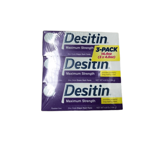 Desitin Desitin Maximum Strength Zinc Oxide Diaper Rash Paste 4.8 Oz. (Pack of 3)