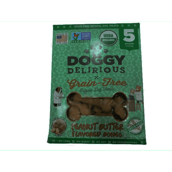 Doggy Delirious Doggy Delirious Peanut Butter Bones Dog Treats, 5Lbs