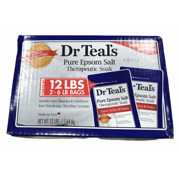 Dr Teals Dr Teal's Therapeutic Solutions Pure Epsom Salt Soaking Solution 2x6Lb Bags