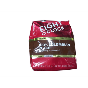Eight O'Clock Eight O'Clock Ground Coffee, 100% Colombian Peaks, 40 Ounce