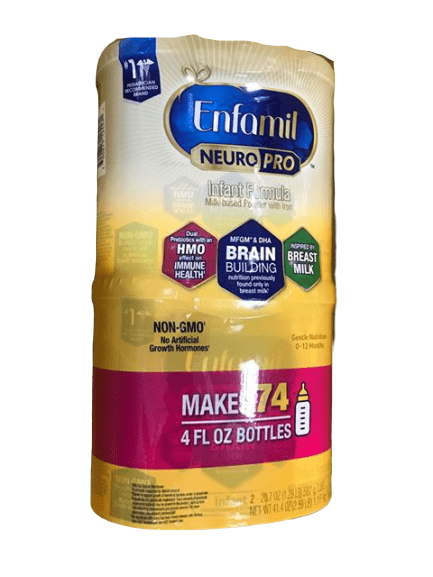 Enfamil Enfamil NeuroPro Infant Formula - Brain Building Nutrition Inspired by Breast Milk - Reusable Powder Tub, 20.7 oz (Pack of 2)