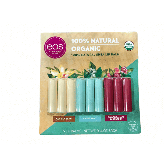 EOS Organic Lip Balm Care Collection, 9 Pack - ShelHealth.Com