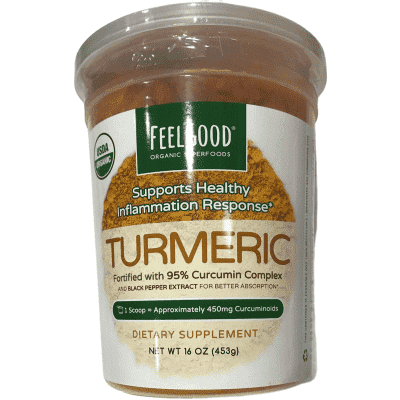 FeelGood Feel Good USDA Organic Turmeric Powder, 16 Ounces