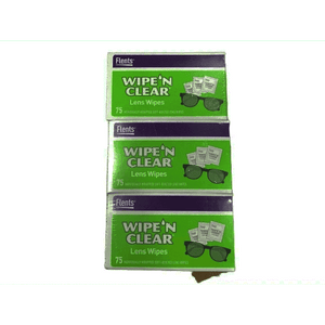Flents Wipe 'N Clear Lens Cleaning Wipes | 3 Portable Boxes Of 75 | 225 Count - ShelHealth.Com
