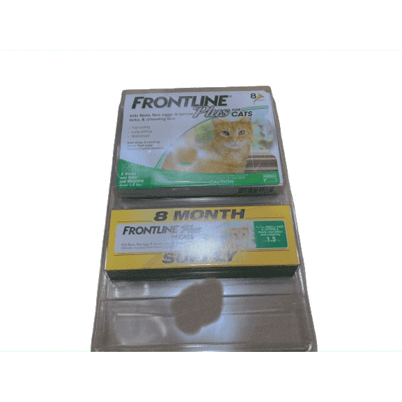 Frontline Plus Flea and Tick Treatment for Cats, 8 Month Supply