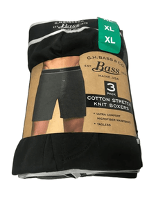 G.H. Bass Mens Knit Boxers 3-Pack.-ShelHealth.Com