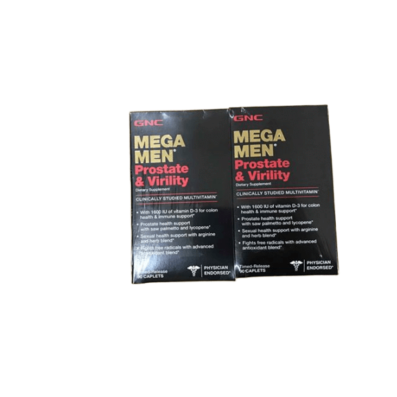 GNC Mega Men Prostate & Virility Dietary Supplement, 2 pk/90 ct. - ShelHealth.Com