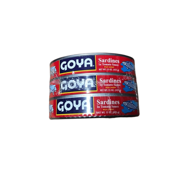 Goya Goya Foods Sardines in Tomato Sauce, 15-Ounce (Pack of 3)