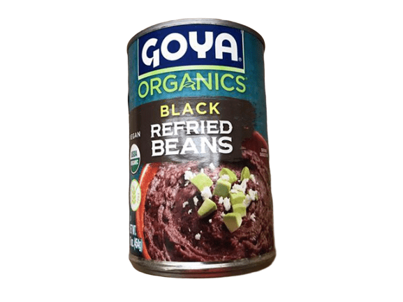 Goya Organics Black Refried Beans, 16 oz - ShelHealth.Com