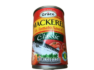 Grace Grace Mackerel in Tomato Sauce, Classic, 5.5 oz