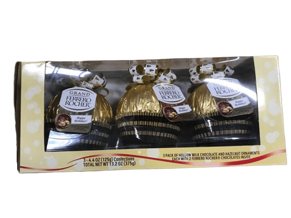 Ferrero Rocher Grand Ferrero Rocher 4.4 Ounce Milk Chocolate & Hazelnut (Pack of 3)