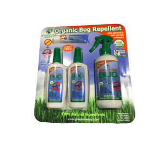 Greenerways Organic Greenerways Organic Bug Repellent + Sunscreen Bug Repellent (12oz + 2 X 4oz + .5oz) 4 Piece