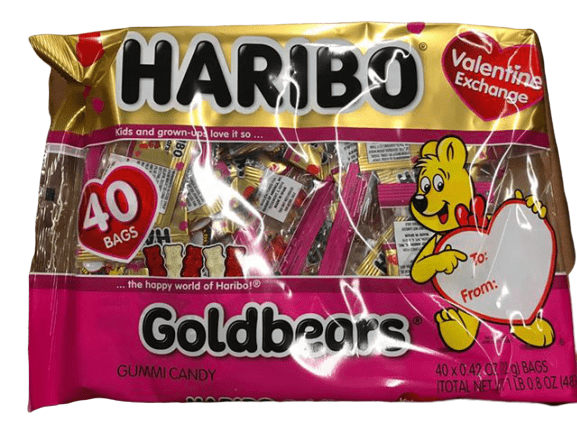 Haribo HARIBO Goldbears Valentine 40-Count Exchange Bag, Valentine Edition