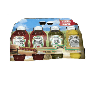 Heinz Heinz Ketchup, Mustard, and Sweet Relish Picnic Pack, 4 Pack