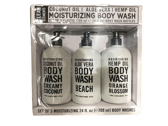 Home and body Co Home and Body Co Clean Elements Body Wash Assorted, 3 x 24 fl oz.