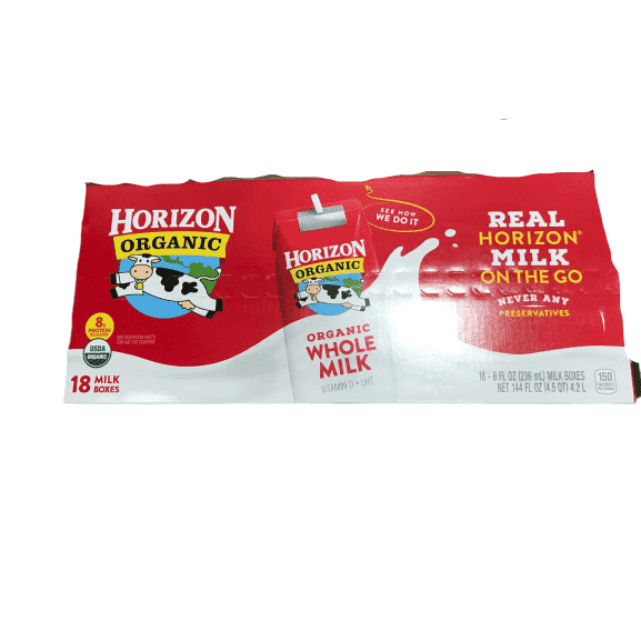 Horizon Organic, Lowfat Organic Milk Box, 8 Fl. Oz (Pack of 18) - ShelHealth.Com