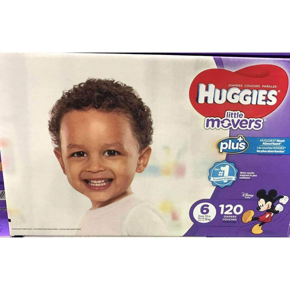 Huggies Huggies Little Movers Plus Size 6 (Over 35 lbs.) , 120 Count