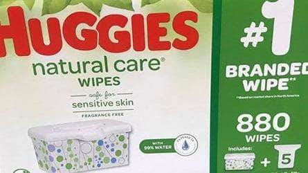 Huggies HUGGIES Natural Care Unscented Baby Wipes, Sensitive, 880 Total Wipes
