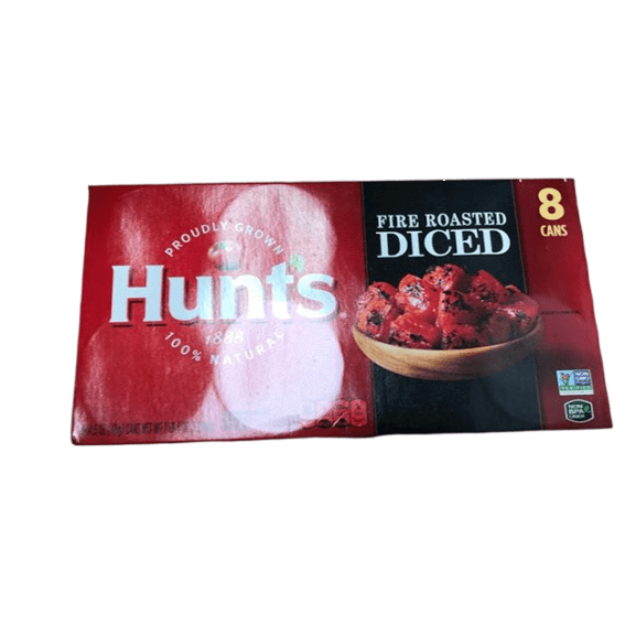 Hunt's Fire Roasted Diced Tomatoes, Keto Friendly, 14.5 oz (Pack of 8) - ShelHealth.Com