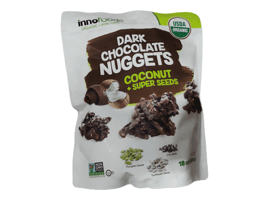 InnoFoods Innofoods Organic Dark Chocolate Nuggets with Coconut & Super Seeds, 18 oz