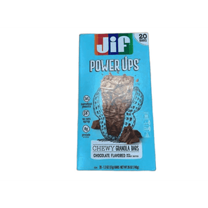 Jif Jif Power Ups Chocolate Peanut Butter, Chewy Granola Bars, Chocolate, 20 Count