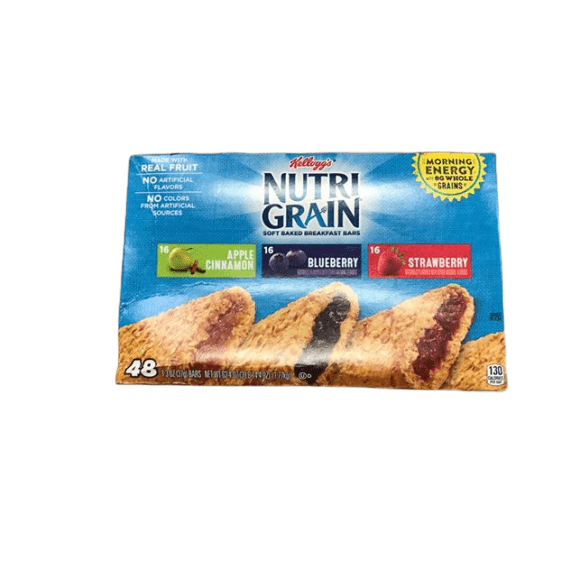 Kellogg's Kellogg's Nutri-Grain Variety Pack (1.3 oz., bar, 48 ct.)
