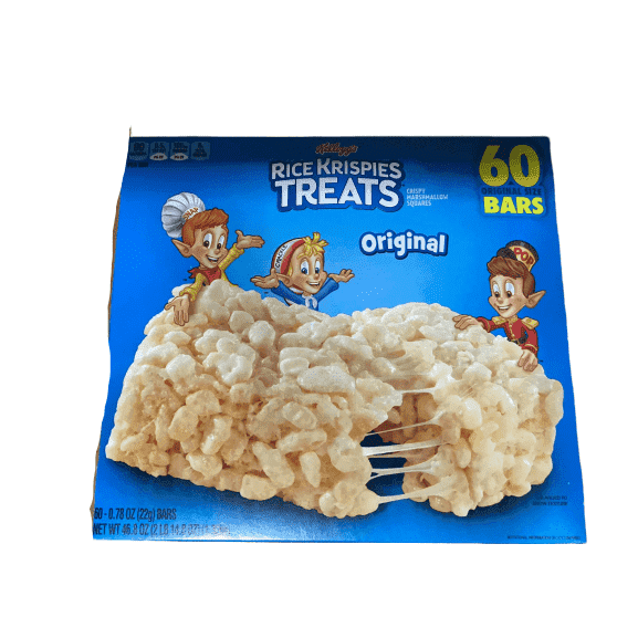 Kellogg's Kellogg's Rice Krispies Treats, Original, 0.78 oz, 60 ct